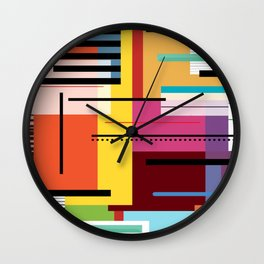 Parallels  lines and colours Wall Clock