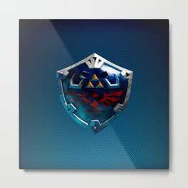 Link Shield Metal Print