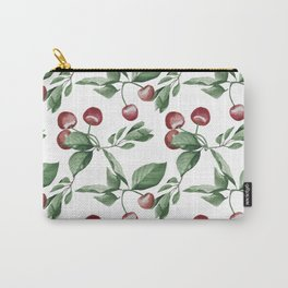 Watercolor red cherry pattern Carry-All Pouch