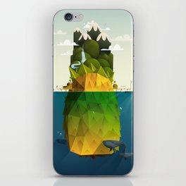 Pineapple isle iPhone Skin