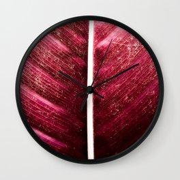 Calamitous Calathea Wall Clock