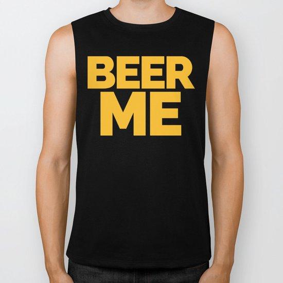 Beer Me Funny Quote Biker Tank