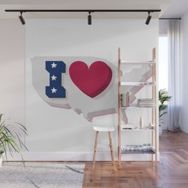 Happy 4th of July! Happy Independence Day!I love USA! Wall Mural