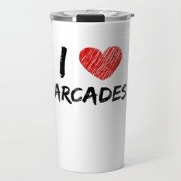 I Love Arcades Travel Mug