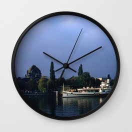 Vintage Color Photo * 1950's * Lucerne * Switzerland * Lake * Boat * Kodachrome Wall Clock