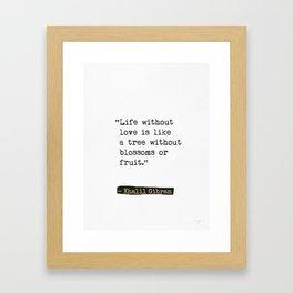 Khalil Gibran about friends Framed Art Print