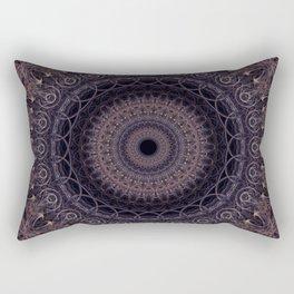 Mandala in cherry and plum tones Rectangular Pillow