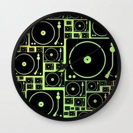 rasta vinyl Wall Clock