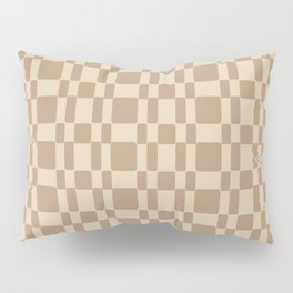 Retro 1950's Stitch Fabric Pattern Tan Pillow Sham