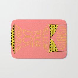 Yellow Polka Dot Bikini Bath Mat