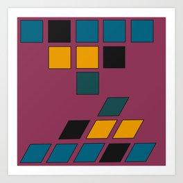 Geometric Reflections Art Print