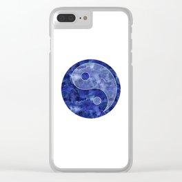Blue Yin & Yang Mandala Clear iPhone Case