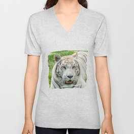 THE BEAUTY OF WHITE TIGERS Unisex V-Neck