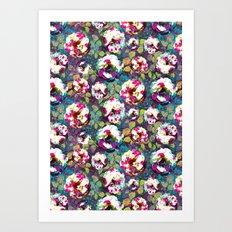 Paintsplat floral Art Print