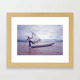 From Myanmar, With Love - Inle Lake, Myanmar Framed Art Print
