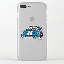 Crazy Car Art 0149 Clear iPhone Case