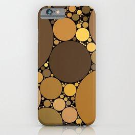 halsey redux: chocolate caramel dark brown abstract design iPhone Case