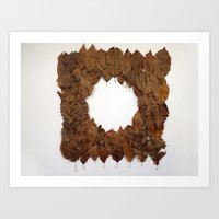 Circular Leaf Blanket Art Print