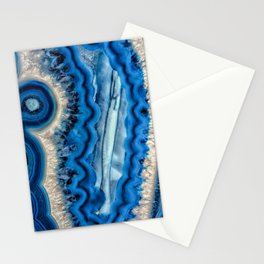 Blue wave Agate Stationery Cards