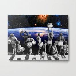Space Pool Metal Print