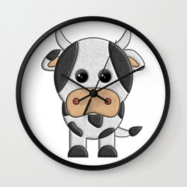 Vaquita de peluche - Cow of teddy Wall Clock