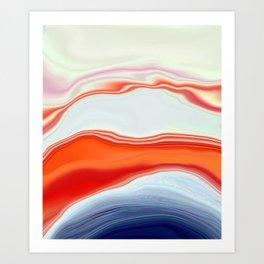 Clamshell Abstract Art Print