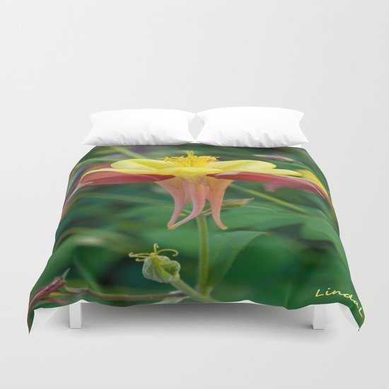 Floating Flower Duvet Cover