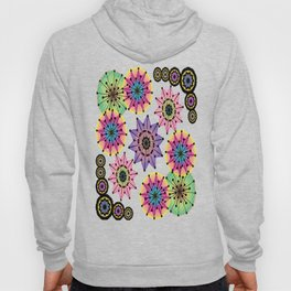 Vibrant Abstract Floral Pattern Hoody