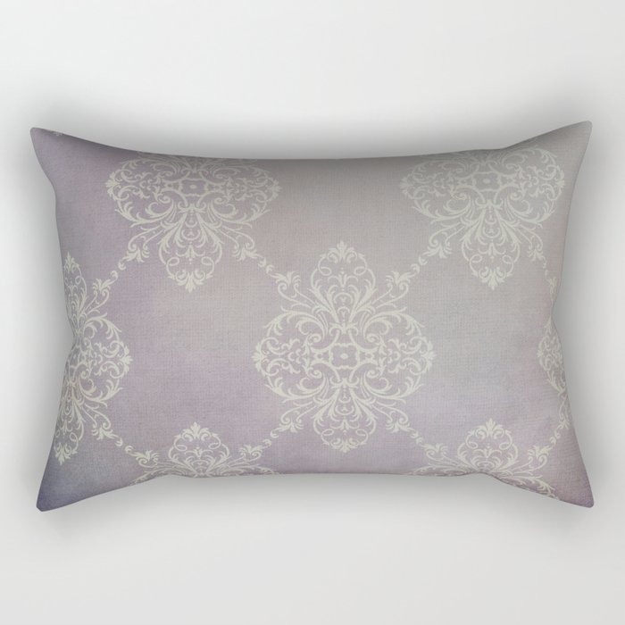 Vintage Damask - Violet Rectangular Pillow