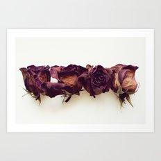 Four Red Roses Art Print
