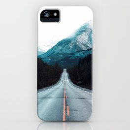 Highway Mountains iPhone Case