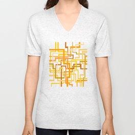 Yellow Lines Unisex V-Neck