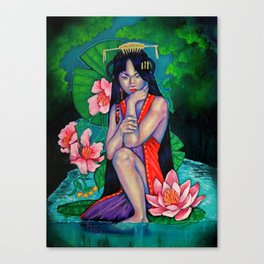 Emerald Lily Canvas Print