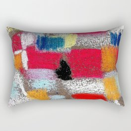 Multicolor grey Rectangular Pillow