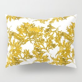 Ocre Seaweed Pattern Pillow Sham