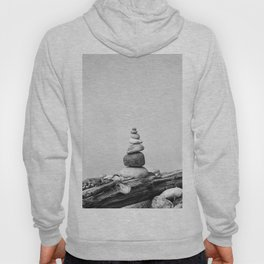 Balance of Nature peppel cairn black white Hoody