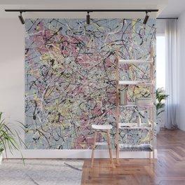 Crescendo - Jackson Pollock style abstract drip canvas art by Rasko Wall Mural