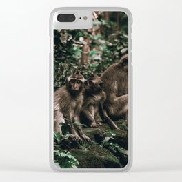 monkey forest ii / indonesia Clear iPhone Case