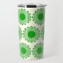 vintage flowers green Travel Mug