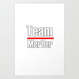 Team MerDer. Greys Anatomy Art Print