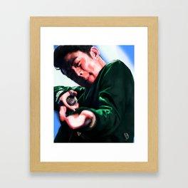 Beenzino in Action Framed Art Print
