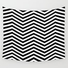 Chevron black white Wall Tapestry