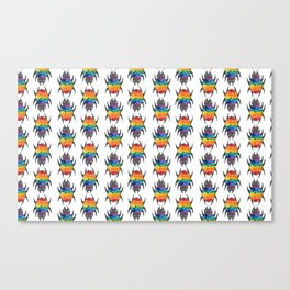the gay spider pattern Canvas Print