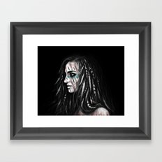 Feathers and Shadows Framed Art Print