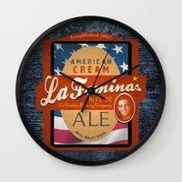 ale giorgini Wall Clocks featuring American Cream Ale by La Femina Brewing Co.