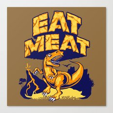 Eat Meat Canvas Print