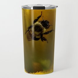 Pollen collecting in a pumpkin blossom Travel Mug