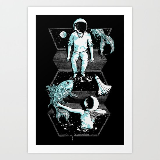 Space Between Art Print