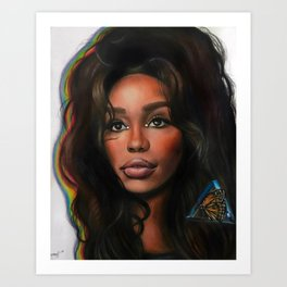 SZA and the Butterfly Art Print