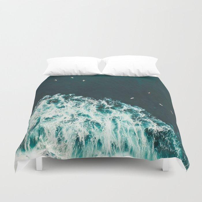 WAVES - OCEAN - SEA - WATER - COAST - PHOTOGRAPHY Duvet Cover